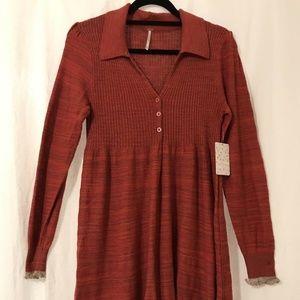 Free People Mini Sweater Dress